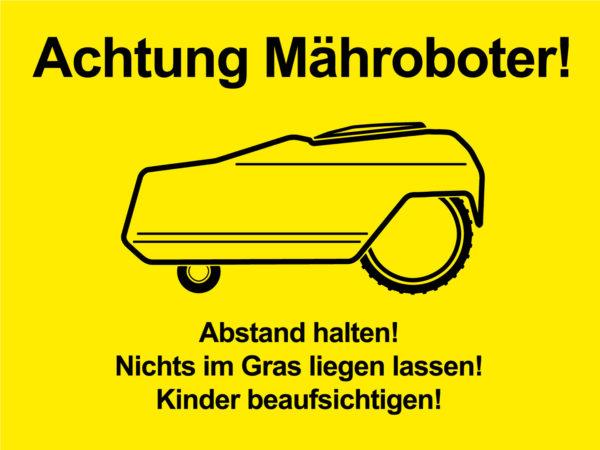 Achtung Mähroboter!